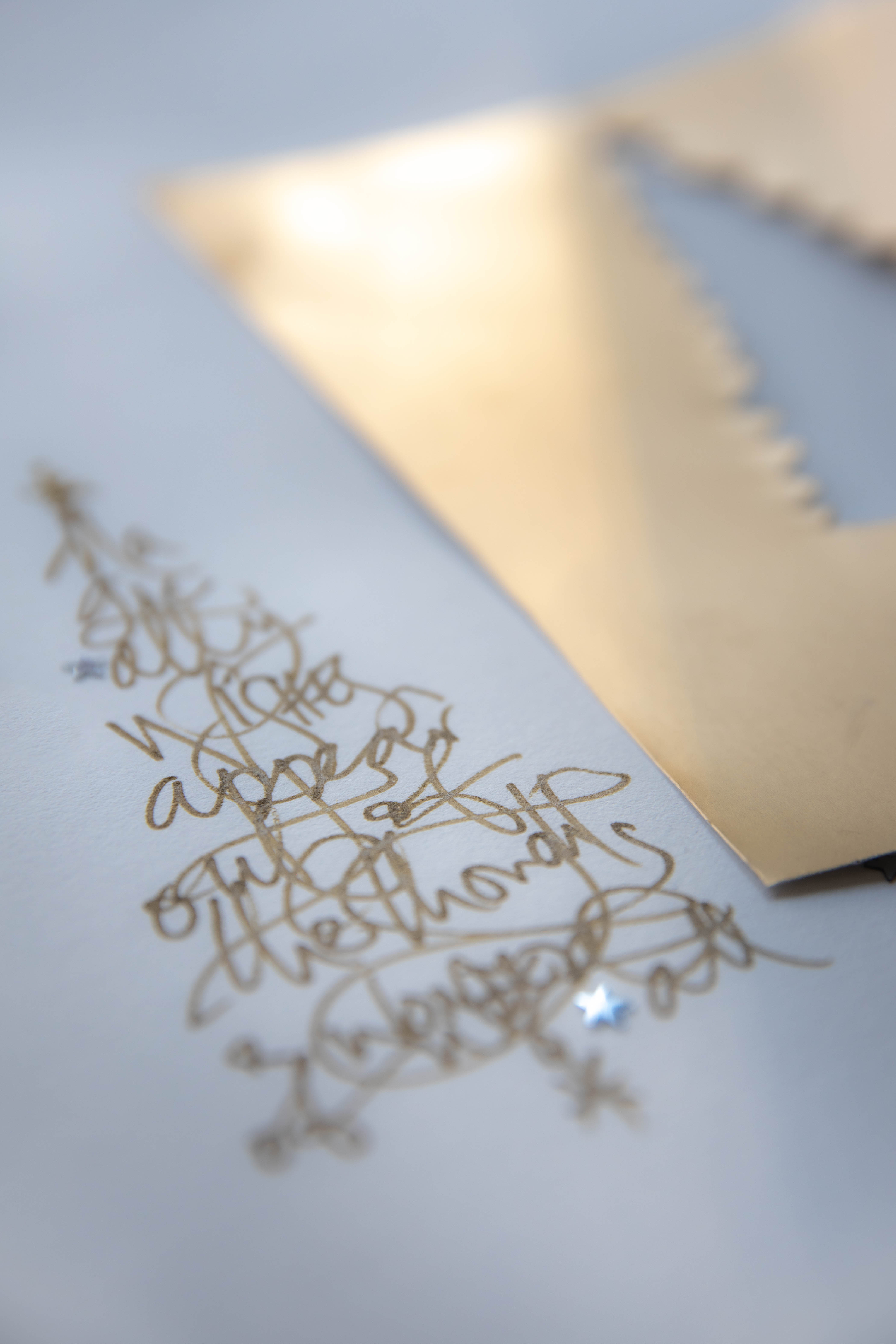 cutting tree and golden writing